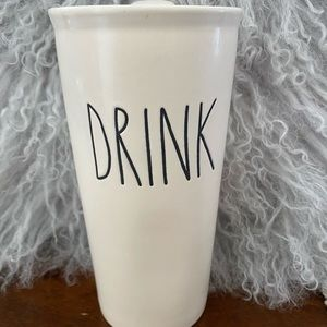 Rae Dunn Ceramic Travel Mug